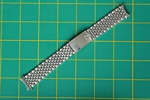 VINTAGE 18MM OMEGA Beads of Rice 1036 SS WATCH BRACELET/ BAND #11 END LINKS