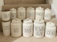 NEW RAE Dunn canister COFFEE SUGAR FLOUR COOKIES OATS NUTS SWEETS SNACK RICE