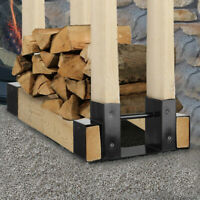 2X Firewood Log Rack Wood Lumber Storage Holder for Fireplace Stove Fire Pit