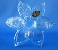 Italian Murano Flower Blown Glass light baby blue Italy No 339