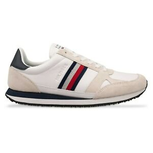 Tommy Hilfiger Trainers - Tommy Hilfiger Leather Stripe Trainers - White - BNIB