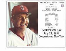 "Carl Yastrzemski - YAZ - Boston Red Sox - 8 "" x 10"" Supercard"