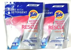 2 Bags Tide 7 Oz Brights & Whites Rescue In Wash Laundry Booster 9 Pac
