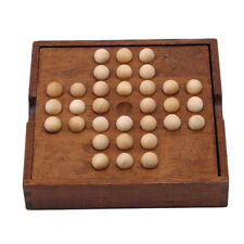 New Brain Teaser Wooden Board Game Single Chess Peg Solitaire Diamond Puzzle Toy