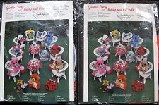 Vintage Garden Party Teddy Friends Needlemagic Knitting Kit Bear Bunny New 1977