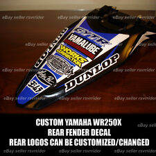 rear fender decal for yamaha wr250x 2007-2011
