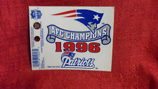 New England Patriots 1996 AFC Champions 3 x 5 inch NFL Window Cling re-useable