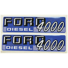 New Ford 4000 Diesel Hood Decal Set (White Letters)