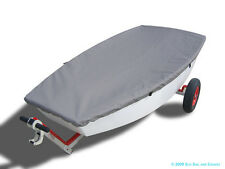 Optimist Sailboat - Boat Deck Cover - Gray Polyester Top Cover