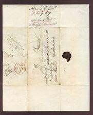 WALES ABERYSTWYTH 1837 LETTER + REDIRECT ELIZABETH HALL