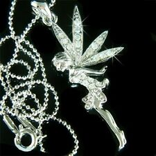 w Swarovski Crystal Tinkerbell ANGEL wings fairy Girls Jewelry Pendant Necklace