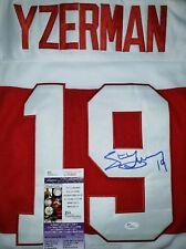 Steve Yzerman HOF Signed (Red Wings) Old School Vintage Jersey Size XL JSA CERT