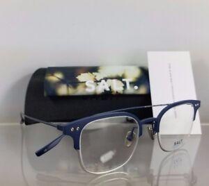 Brand New Authentic Salt Eyeglasses Vaughn Ab/Tem Navy Titanium Frame 48Mm