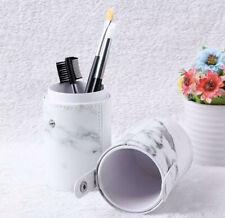 Travel PU Marbling Makeup Brushes Pen Holder Storage Cosmetic Case Box