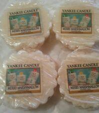 4 x Yankee Candle merry marshmallow melt tarts rare