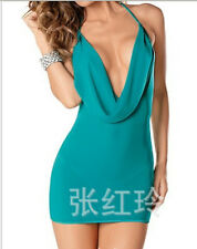 Party Sexy Bodycon See-through Women Night Club Dress with Thong Slim Sizer M