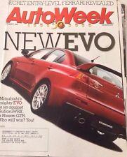 Autoweek Magazine Mitsubishi EVO Subaru WRX October 1, 2007 080417nonrh
