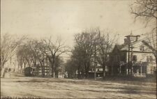Reading MA Harnden St. & Square Trolley c1910 Real Photo Postcard