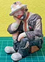 VTG EMMET KELLY JR FLAMBRO HOBO CLOWN SITTING ON BOX COLLECTIBLE 4 INCH TALL