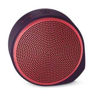 Logitech X100 Mobile Wireless Bluetooth Speaker PURPLE/RED