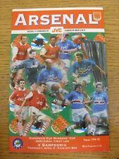 06/04/1995 Copa Taza de ganadores europeo semi-final: Arsenal Fútbol Pro v Sampdoria.