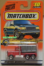 Matchbox 1997 Quarry Truck Moving Parts Big Movers #10/75 Red W+