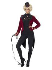 Ladies Ringmaster Costume Circus Lion Tamer Fancy Dress Outfit UK