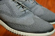 Cole Haan Zerogrand Gray Knit Wingtip Lace Up Fashion Oxfords Shoes Men's 11 M