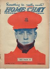 WWI War Time British Home Chat Magazine Jan 2 1915 #1033 Cap Comforter 4 Tommy