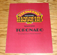 Original 1969 Oldsmobile Toronado Sales Brochure 69