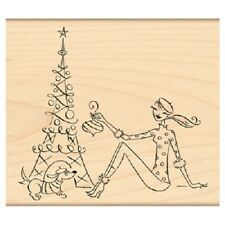 PENNY BLACK RUBBER STAMPS PARISIAN CHRISTMAS NEW wood STAMP