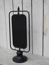 Industrial country metal two sided chalkboard on stand message board with finial