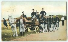 Cantinewagen bij een manoeuvre Military Horse 1914 Dutch Antique Postcard 26511
