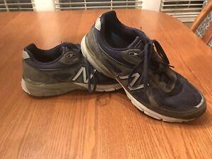 New Balance 990v4 Athletic Running Shoes Size 11.5 2E Navy Blue M990NV4 USA