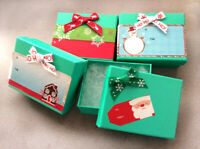 Pack of 4 Jewelry boxes f Christmas Gift,Torque Blue,7x9 cm, Hard Rigid Boxes