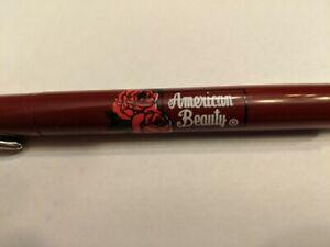 Vintage Burgundy American Beauty Roses Chrome Trim Parker Vector Rollerball Pen