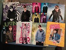 Justin Bieber RARE LOT of School Folders 16 Total!!!