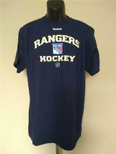 New York Rangers Hockey Mens Size L Large Blue Reebok Shirt