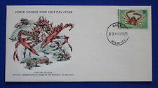 Maldives (758) 1978 Crabs & Lobsters - Schizophrys Aspera WWF FDC