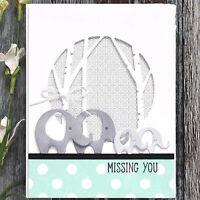 Elephant Metal Cutting Dies Stencil Scrapbooking Embossing Card Paper Craft