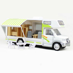 Luxury Camper Van Motorhome 1:28 Model Car Diecast Toy Collection Gift for Kids