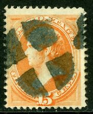 USA 1870 Stanton 15¢ Orange Scott 152 VFU O810 ⭐⭐⭐⭐⭐⭐