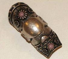 bague armure gothique décor mauve - taille réglable