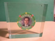JERRY SEINFELD $25 Poker Chip Resorts Casino 2003 in Lucite Box- Atlantic City