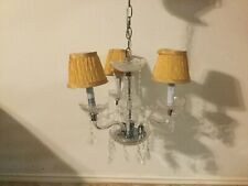 Vintage Style Small Acrylic Crystal Candle Chandelier Swag Pendant Lighting