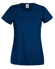 Fruit of The Loom Womens 61372 Lady-fit Short Sleeve Valueweight T-shirt - Navy