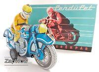 PENDUPET TIN MOTORBIKE 1991 Friction Motorkerekpar Hungarian Tinplate Toy 1990s