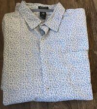 White Stuff Long Sleeved Shirt Medium White Leaf Print 100% Cotton