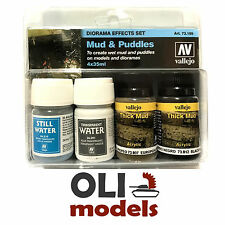 Diorama Effect Set: MUD and PUDDLES Water & Mud Texture 4x35ml - Vallejo 73189