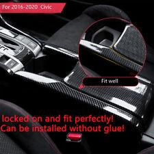 For Honda Civic 2016-2020 ABS Carbon Fiber Interior Central Armrest Box Panel
